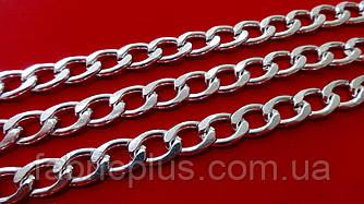 Цепь декоративная 14*9 мм никель L грань