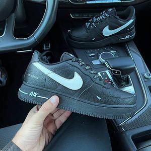 Мужские кроссовки Nike Air Force 1 черные