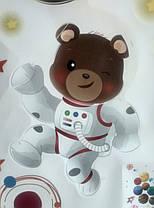 """Наклейка на стіну """"звірі в космосі!"""" 110см*78см наклейки в дитячу (лист 60*90см) в дитячий садок, фото 3"""