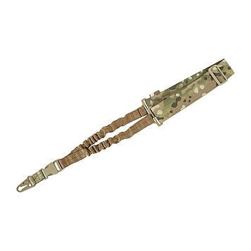 M-Tac ремінь збройовий одноточковий еластичний Multicam