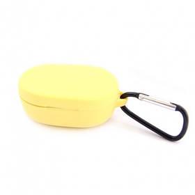 Силиконовый чехол с карабином для наушников Xiaomi AirDots Yellow Желтый