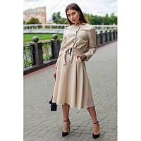 Женское модное платье Плутос ниже колена 44-52 размер разные цвета