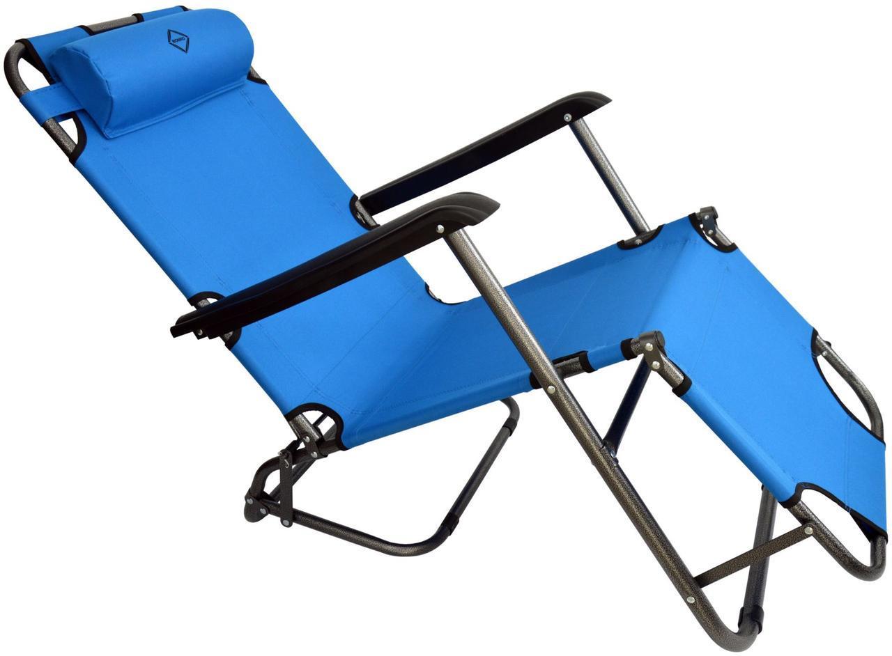 Шезлонг Bonro лежак 178 см Блакитний