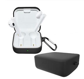 Силиконовый чехол с карабином для наушников Xiaomi Mi Air 2 SE Black Черный