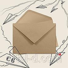 Крафт конверт С6, ЕКО 80г\м. клапан трикутний, 114*162мм