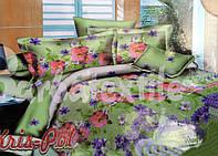 """Красивое постельное белье с цветочным рисунком  """"Ранфорc"""""""
