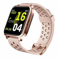 Женские умные сенсорные часы X3 для Iphone и Android розовые