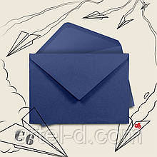Крафт конверт С6 синій, ЕКО 80г\м. клапан трикутний, 114*162 мм
