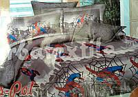 """Детское постельное белье 3-Д рисунок человек паук   """"Ранфорc"""""""
