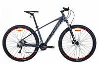 """Гірський велосипед LEON TN 70 AL HDD 29 AM""""(графітовий з чорним і червоним (м)) 21r, фото 1"""