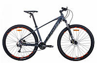"""Горный велосипед LEON TN 70 AL HDD AM 29""""(графитовый с черным и оранжевым (м)) 21r"""