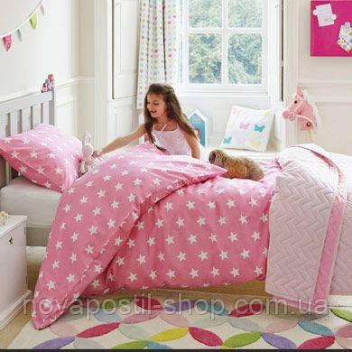 Детское постельное белье Pink Star (100% хлопок)