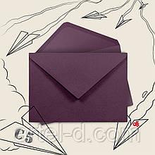 Синій крафт конверт С6, ЕКО 80г\м. клапан трикутний, 114*162 мм