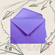 Крафт конверт С6 лавандовий, ЕКО 80г\м. клапан трикутний, 114*162 мм