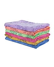 Полотенце банное 70x140см Цветочки микрофибра