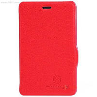 Чехол Nillkin Fresh Series Leather Case для Nokia Asha 501 red