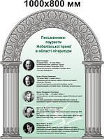 Писатели лауреаты нобелевской премии. Стенд для кабинета зарубежной литературы