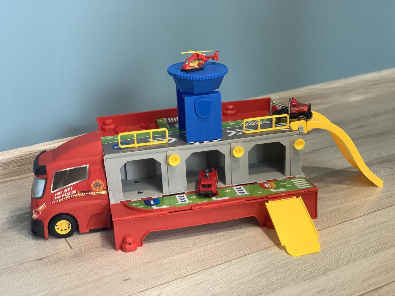 Ігровий гараж Пожежний трейлер з машинками HZ613
