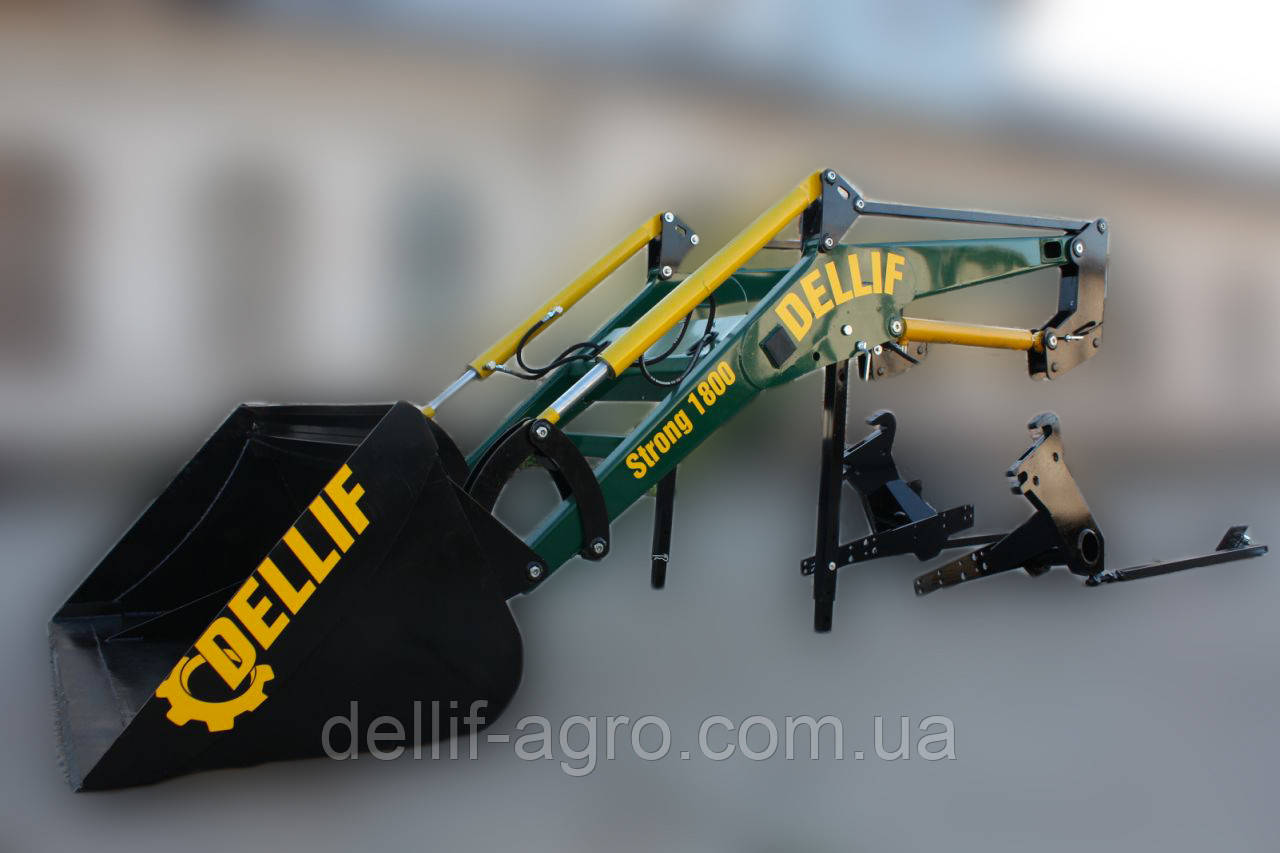 Погрузчики фронтальные на трактор МТЗ  Dellif Strong 1800 усиленная модель, ковш 1.5 куба