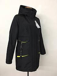Демисезонные женские куртки парки хаки размеры 48-54