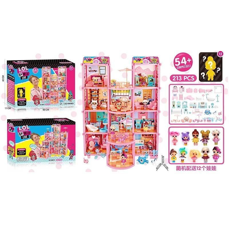 Ляльковий будиночок (213 деталей) BB 011 | Будиночок для ляльок
