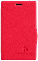 Чехол Nillkin Fresh Series Leather Case для Nokia Asha 502 red