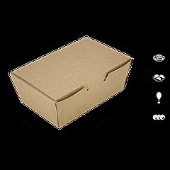 Коробка под суши крафт 107х166х57 мм