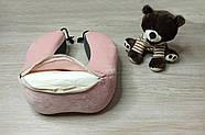 """Ортопедична подушка-рогалик для подорожей з """"ефектом пам'яті"""", фото 2"""