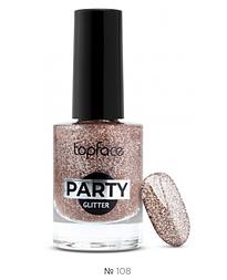 Лак для ногтей Topface Party Glitter № 108