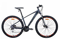 """Горный велосипед LEON TN 80 AL HDD AM 29""""(графитовый с черным и оранжевым (м)) 21r"""