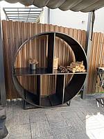 Дровница круглая диаметр 1,5м