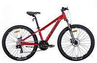 """Горно-подростковый велосипед  LEON SUPER JUNIOR AL AM DD  26"""" (красный), фото 1"""