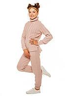 Стильний в'язаний костюм для дівчинки 122-152 р