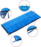 Туристический спальник мешок-одеяло 190 х 75 см KingCamp Active Температура от +12 до -5 Голубой (KS3103), фото 2