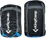 Туристический спальник мешок-одеяло 190 х 75 см KingCamp Active Температура от +12 до -5 Голубой (KS3103), фото 3