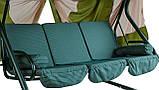 Гойдалки-диван садові для дачі металеві з навісом Ranger Emerald Зелений (7720), фото 4
