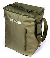 Термосумка ізотермічна 18 л Сумка-холодильник для пікніка Ranger HB5 Нейлон Оливковий (9911)