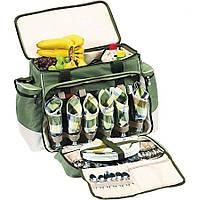 Набір посуду для пікніка на 6 персон з термосумкою Ranger Rhamper Lux Оливковий (9902)