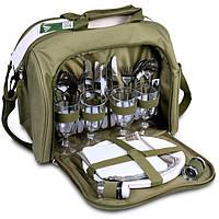 Набір посуду для пікніка на 4 персони в сумці Ranger Meadow Оливковий (9910)