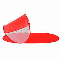 Пляжна підстилка з навісом автоматична WM-0T328 червона