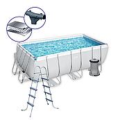 Каркасний басейн 56456 (412 х 201 х 122 см), з картриджних фільтрів, дозатором хлору і сходами