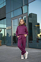 Теплий в'язаний костюм для дівчинки 134-152 р