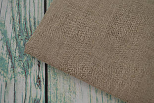 Тканина рівномірного плетіння льон Permin 075/01 колір натурального льону, 26 каунт