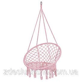 Подвесное кресло-качели плетеное Springos Pink SKL41-277889