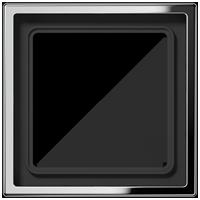Рамка 1 постовая, нержавеющая сталь