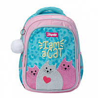 """Рюкзак с котами и кошками для девочек 1Вересня """"I am a cat"""""""