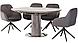 Стіл розкладний Vetro Mebel TML-670 сірий мармур, фото 6