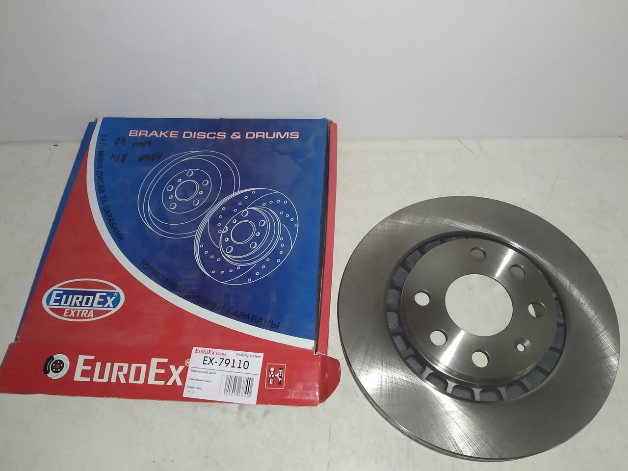 Диск гальмівний передній Деу Ланос 1,6 16V R14 EuroEx
