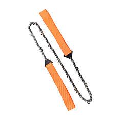 Карманная цепная пила Campleader 65 Orange портативная для туризма кемпинга ручной инструмент