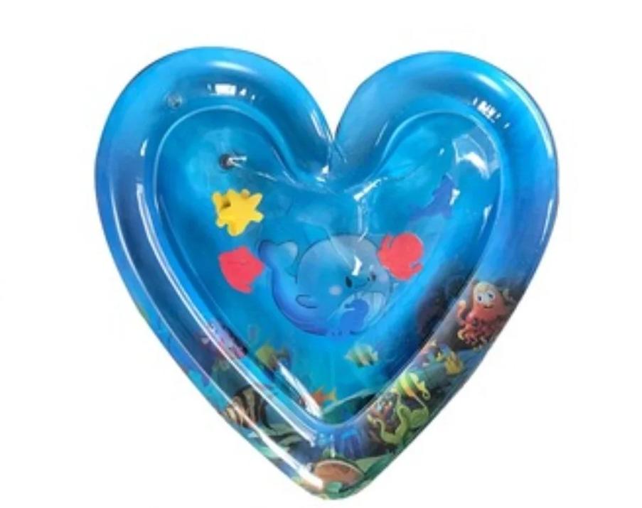 Детская надувная водная подушка в форме сердца   игровой центр для развития